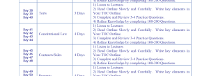 Bar Exam Study Schedule