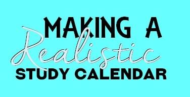 Realistic Study Calendar