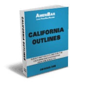 California Bar Exam Outline Book