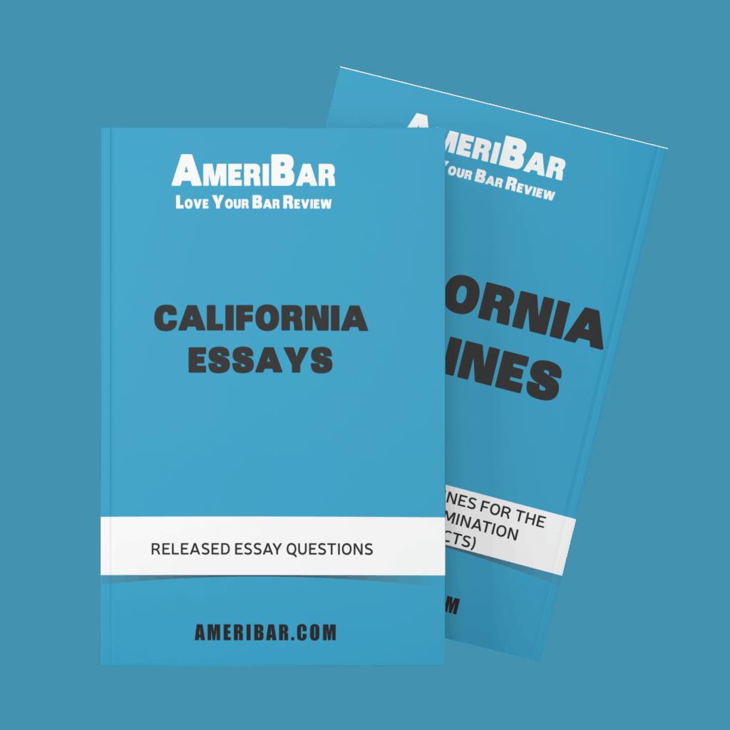 California Bar Exam Essay Book