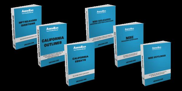 California Bar Review Course Books