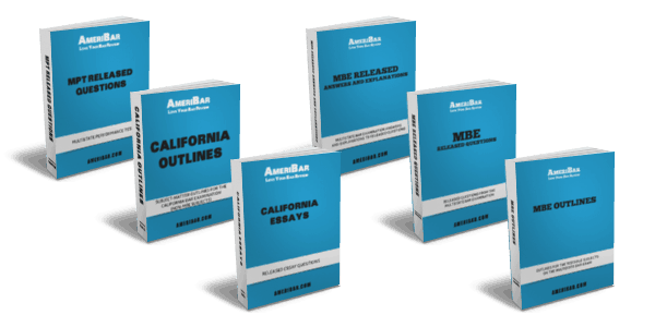 California Bar Review Course Books