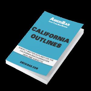 California Bar Review Outlines