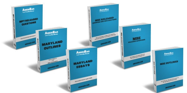 Maryland Bar Exam Course Books
