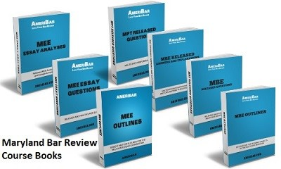 Maryland Bar Review Course Books