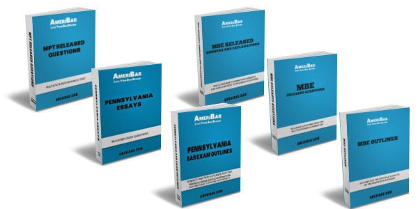 Pennsylvania Bar Exam Course Books