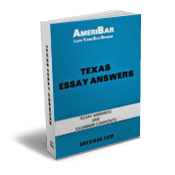 Texas Bar Exam Essay Answers Book