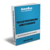 Texas Bar Exam Procedure Evidence Questions Book