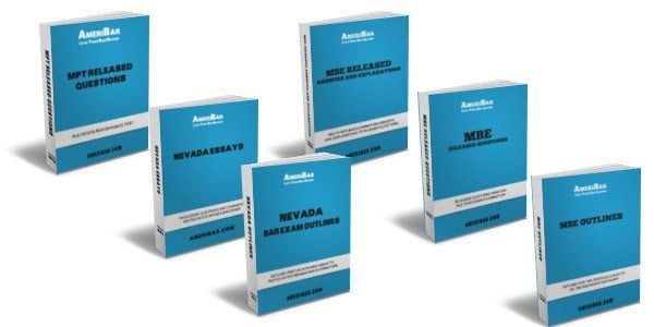 Nevada Bar Exam Course Books